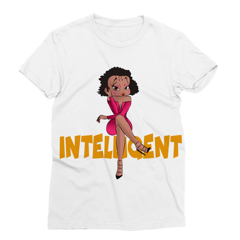 Intelligent Betty Classic Sublimation Women's T-Shirt | Black Betty Boop