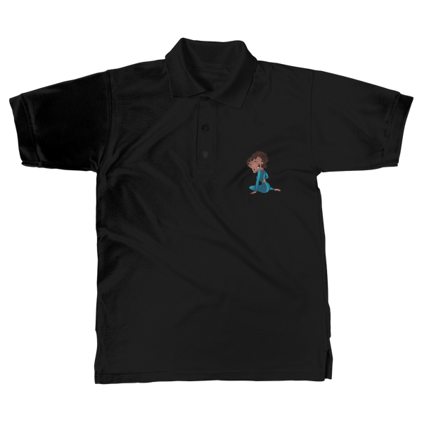 Sitting Betty Medium Classic Adult Polo Shirt | Black Betty Boop