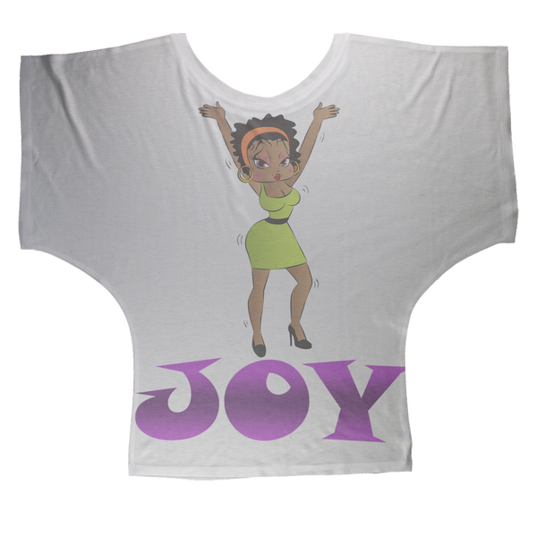 Dancing Joy Betty Sublimation Batwing Top | Black Betty Boop