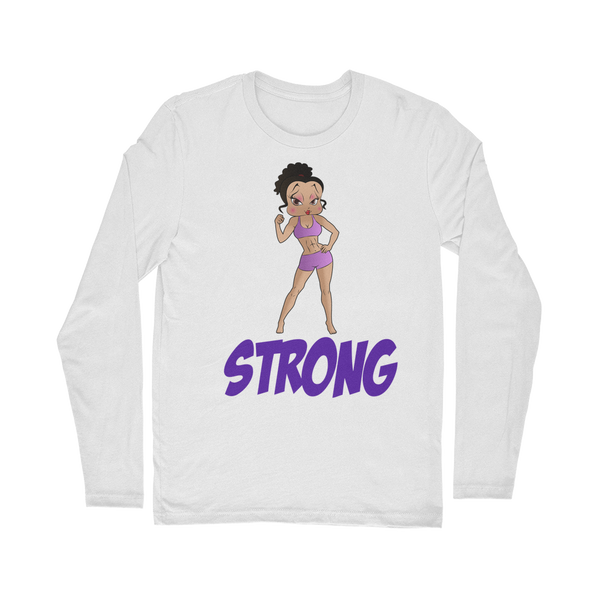 Workout Strong Betty Classic Long Sleeve T-Shirt | Black Betty Boop