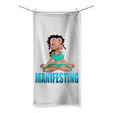 Meditating Manifest Betty Sublimation All Over Towel | Black Betty Boop