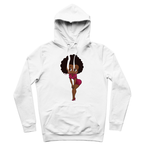 Standing Betty 03 Premium Adult Hoodie | Black Betty Boop