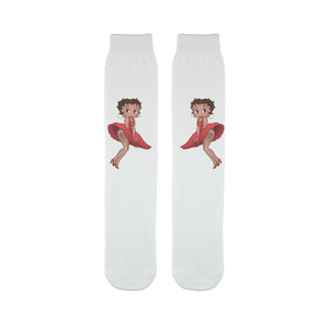 Red Dress Betty Light Sublimation Tube Sock | Black Betty Boop