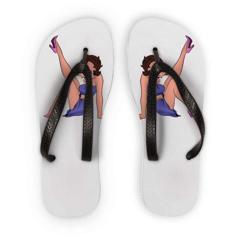 Legs Up Betty Light Flip Flops | Black Betty Boop