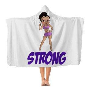 Strong Betty Hooded Blanket | Black Betty Boop