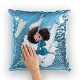 Sitting Betty Light Sequin Cushion Cover | Black Betty Boop