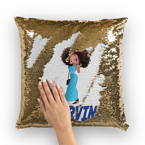 Deserving Betty Sequin Cushion Cover