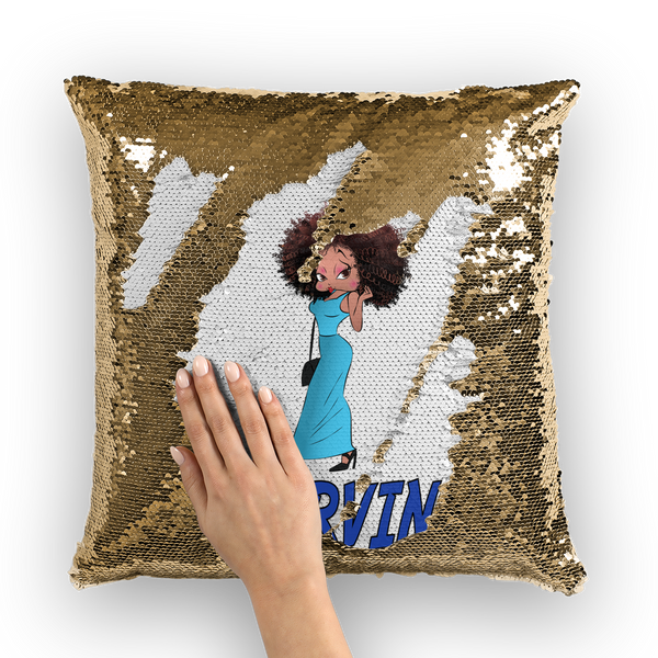 Deserving Betty Sequin Cushion Cover | Black Betty Boop