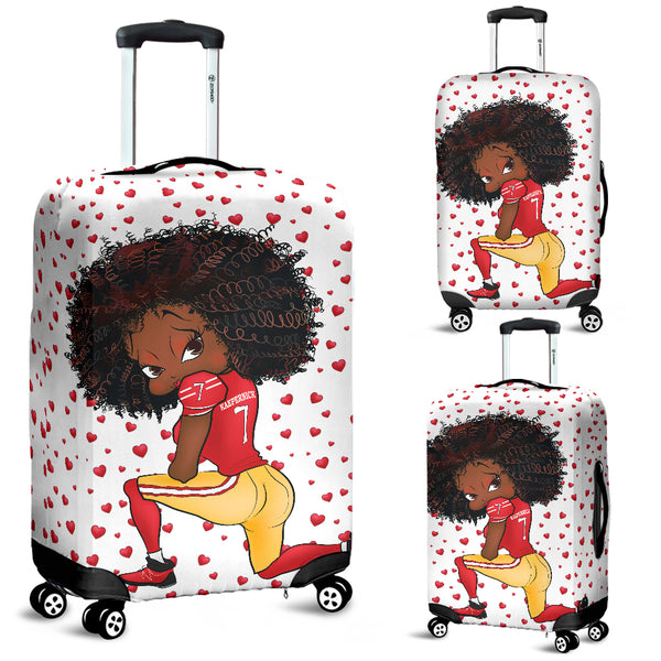 Kneeling Betty Luggage Cover | Black Betty Boop
