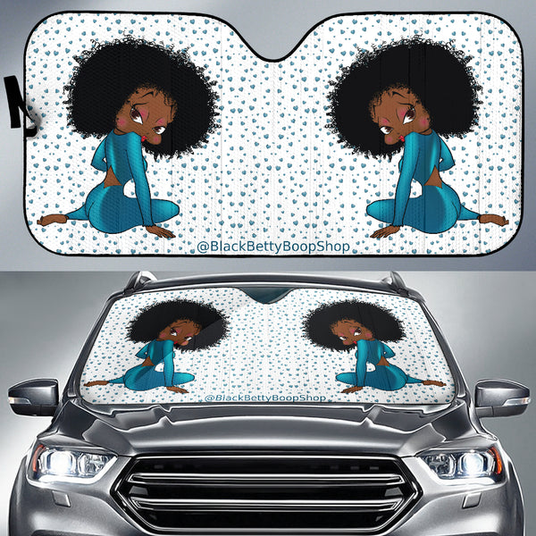 Sitting Betty Auto Sun Shade Express | Black Betty Boop