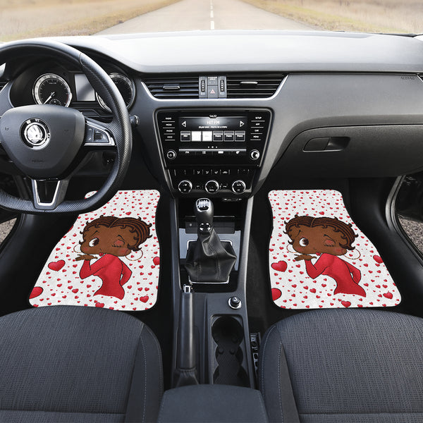Kissing Betty Car Floor Mats Express | Black Betty Boop