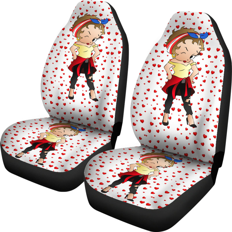 Latina Betty Car Seat Cover | Black Betty Boop