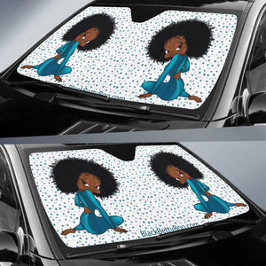 Auto Sun Shade Sitting Betty | Black Betty Boop