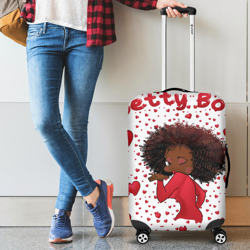 Luggage Cover Kissing Betty | Black Betty Boop