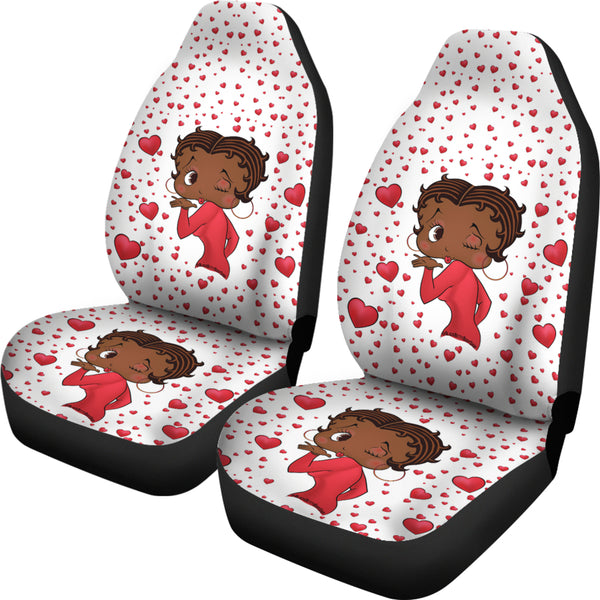 Kissing Betty Car Seat Covers Express | Black Betty Boop