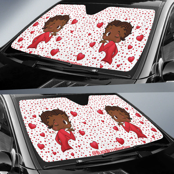 Kissing Betty Auto Sun Shade Express | Black Betty Boop