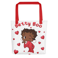 Brown Kissing Betty Tote bag | Black Betty Boop