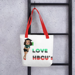 College Betty Tote bag | Black Betty Boop