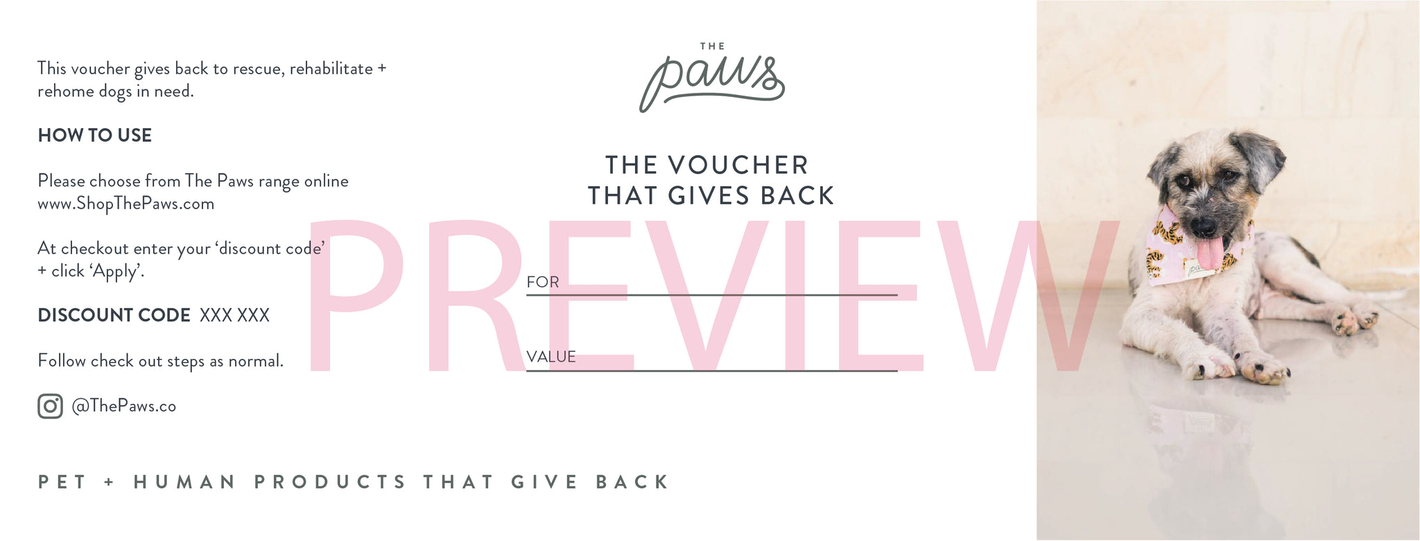Vouchers that Give Back