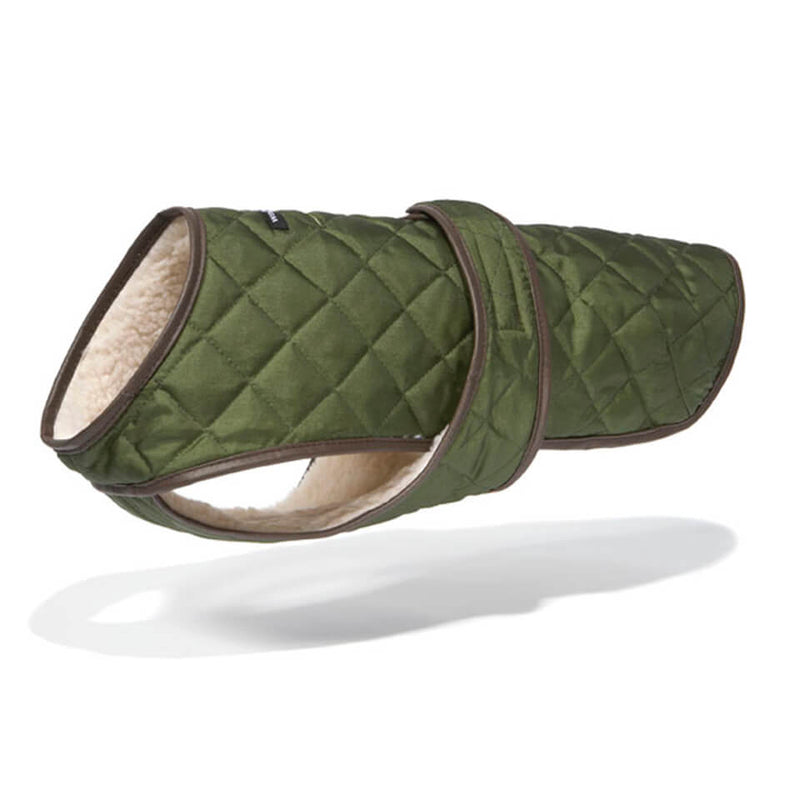 Quilted Vest with Berber Fleece - Olive