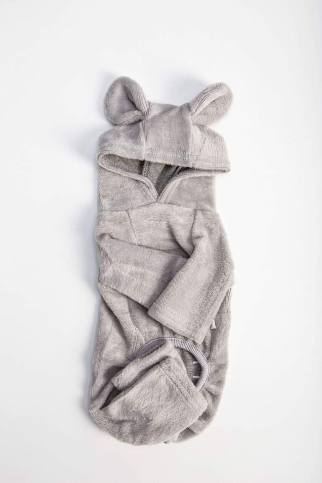 Fleece Dog Onesie - Grey