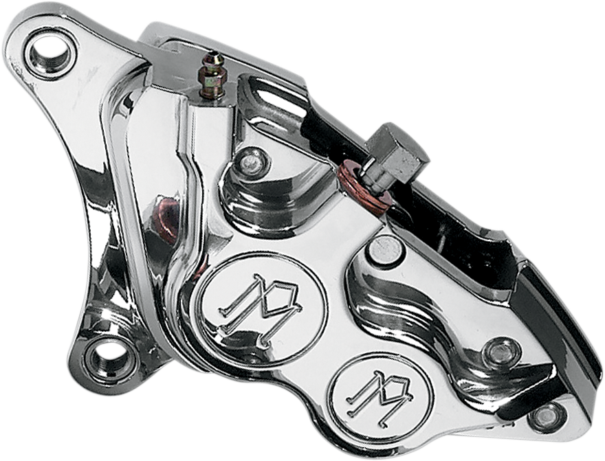 PERFORMANCE MACHINE (PM) Caliper - Front Left - Polished -  00-17 Harley-Davidson Four-Piston Differential-Bore Caliper - Team Dream Rides