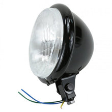 "Load image into Gallery viewer, TC BROS Black Bates Style Headlight 5.75"" - Team Dream Rides"