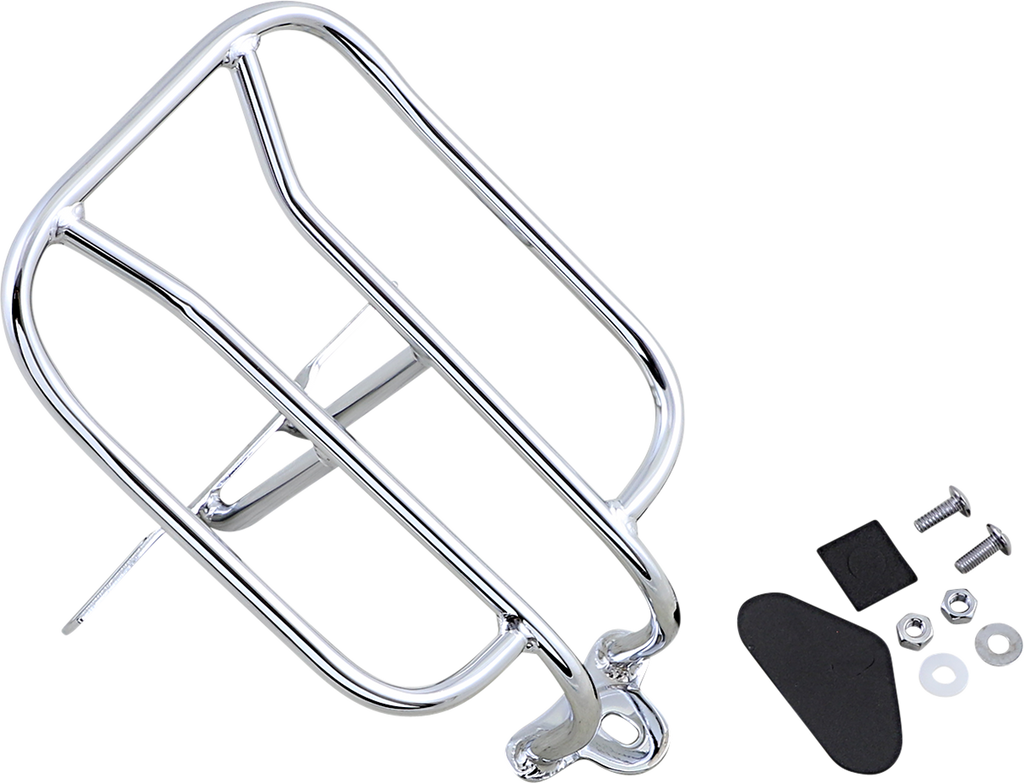 DRAG SPECIALTIES Luggage Rack - Chrome - XL Fender Luggage Rack