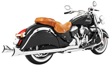 "Load image into Gallery viewer, TRUE DUAL HEADERS CHROME W/SHARKTAILS 2.5"" INDIAN - Team Dream Rides"