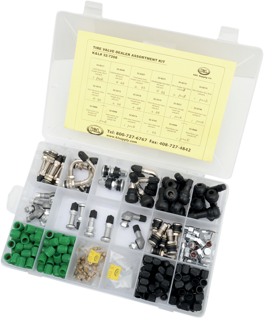 K&L SUPPLY Valve Stem - Assortment Valve Stem Kit