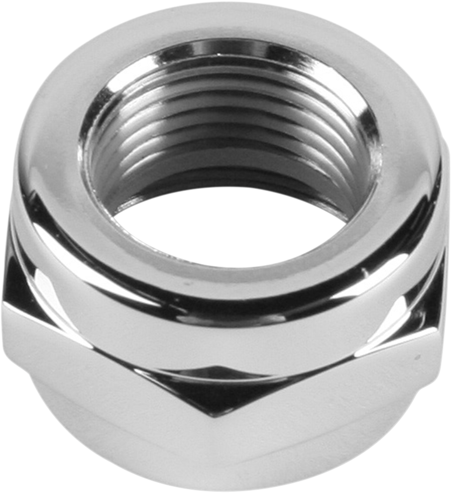 "PINGEL Adapter Nut - Chrome - 3/8"" Power-Flo Fuel Valve Chrome Adapter Nut - Team Dream Rides"