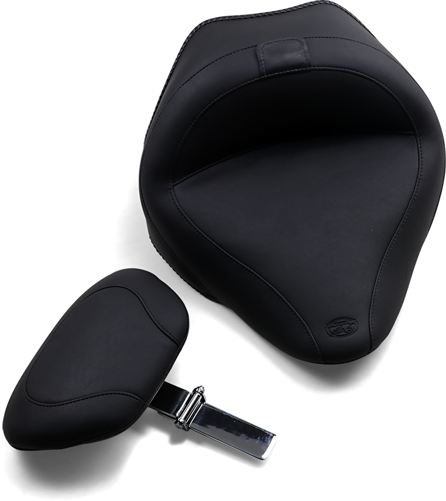 MUSTANG Vintage Touring Solo Seat - Driver's Backrest Wide-Style Solo Seat with Removable Backrest - Team Dream Rides