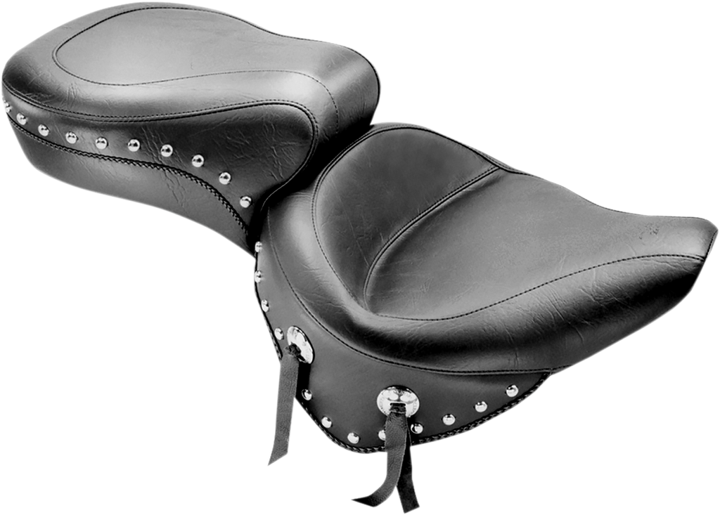 MUSTANG Wide Studded Seat - Softail '00-'05 Studded 2-Up  Seat - Team Dream Rides