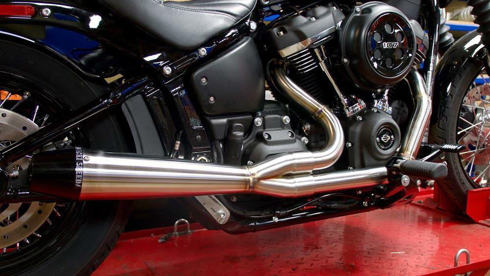 Sawicki Speed Shop 2 in 1 M8 Softail Pipe Brushed Stainless Steel - Team Dream Rides