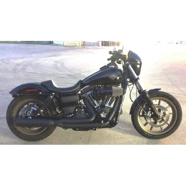 D&D 2006-2017 Harley Dyna Boarzilla 2:1 Full System Black - Team Dream Rides