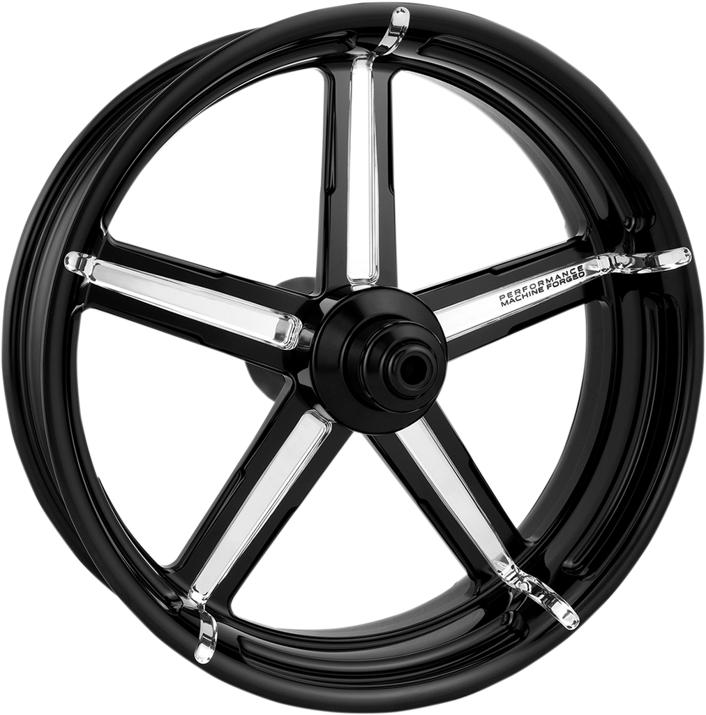 PERFORMANCE MACHINE (PM) Rear Wheel - Formula - Platinum Cut - 18 x 5.5 - With ABS - 09+ FL One-Piece Aluminum Wheel — Formula - Team Dream Rides