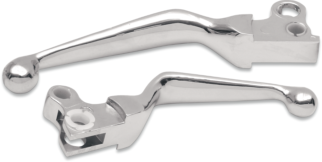 DRAG SPECIALTIES Chrome Lever Set Wide Blade Lever Set