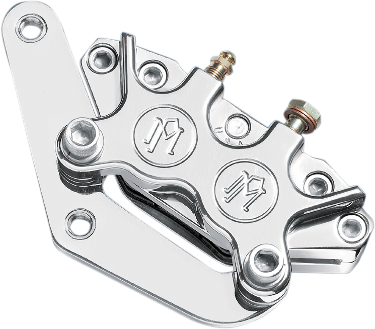 PERFORMANCE MACHINE (PM) Dual Disc Caliper - Front - Chrome - 84-99 Caliper Kit