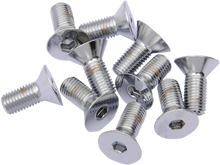 "Load image into Gallery viewer, DRAG SPECIALTIES 5/16X24X1"" Chrome Flat Head Countersunk Socket-Head Bolts"
