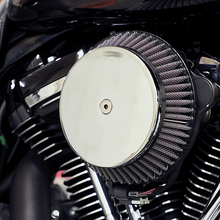 Load image into Gallery viewer, LA CHOPPERS Air Cleaner Chrome 08-16 FL Plain Cover Big Air Cleaner Kit