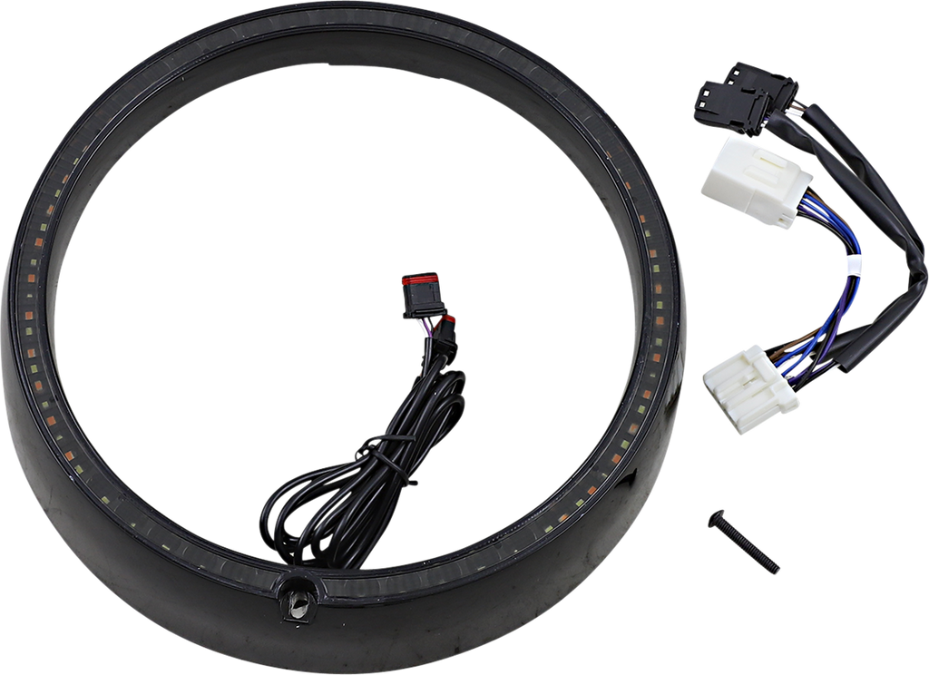 CUSTOM DYNAMICS Sequential Trim Ring - Black ProBEAM® Turn Signal Ring Trim - Team Dream Rides