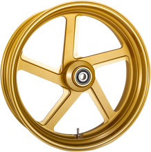 Load image into Gallery viewer, PERFORMANCE MACHINE (PM) Front Wheel - Pro-Am - Gold - 21 x 3.5 - With ABS One-Piece Pro-AM Aluminum Wheel