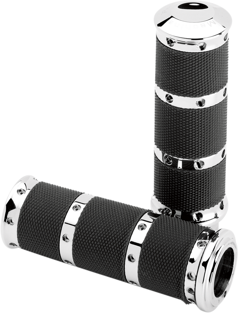 PERFORMANCE MACHINE (PM) Chrome XL Grips for Cable for TBW Contour XL Renthal Wrapped Grips