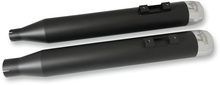 Load image into Gallery viewer, LA CHOPPERS Mufflers - Black/Chrome Tru Power Slip-On Muffler