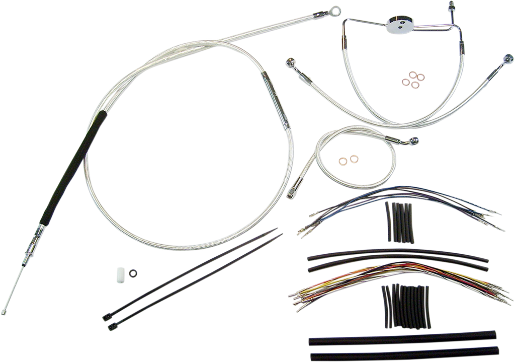 MAGNUM Sterling Chromite II® Control Cable Kit Sterling Chromite II® Designer Handlebar Installation Kit - Team Dream Rides
