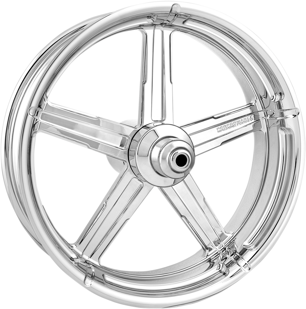 PERFORMANCE MACHINE (PM) Rear Wheel - Formula - Chrome - 18 x 5.5 - With ABS - 09+ FL One-Piece Aluminum Wheel — Formula - Team Dream Rides
