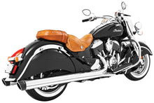 "Load image into Gallery viewer, LIBERTY SLIP-ONS 4"" CHROME W/BLACK TIP INDIAN - Team Dream Rides"