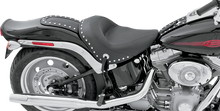 Load image into Gallery viewer, MUSTANG Wide Studded Solo Seat - Softail '06-'10 Wide Vintage Solo Seat - Team Dream Rides