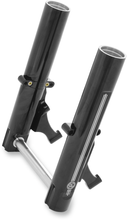 Load image into Gallery viewer, PERFORMANCE MACHINE (PM) Lower Fork Leg Kit - Dual Disc - Contrast Cut - Black/Silver - '14-'20 FL Fork Leg Kit for Stock or PM Calipers — Contrast Cut™ - Team Dream Rides