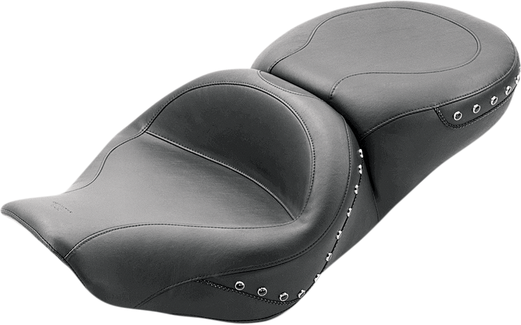 MUSTANG Wide Studded Touring Seat - FLHR Wide Studded 2-Up Touring Seat - Team Dream Rides